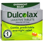 Dulcolax Overnight Relief Laxative Tablets 10 Comfort Coated Tablets