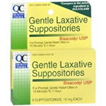 Quality Choice Gentle Laxatives 8 Comfort Shaped Suppositories