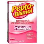 PEPTO-BISMOL 30 CHEWABLE TABLETS