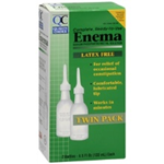 Quality choice Enema Latex Free Twin  Pack 2- 4.5 fl oz