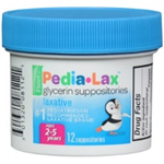 Fleet Pedia-Lax Glycerin Suppositories for Ages 2-5 12 Suppositories