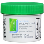Fleet Glycerin Suppositories 12 Adult Size