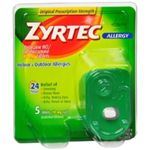 Zyrtec Indoor and Outdoor Allergy 5 Tablets of 10 mg each