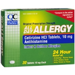 Quality Choice All Day Allergy 30 Tablets of 10 mg each