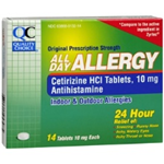 Quality Choice All Day Allergy 14 Tablets of 10 mg each