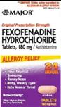 Major Fexofenadine Hydrochloride Allergy 15 Tablets