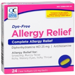 Quality Choice Dye-Free Allergy Relief 24 Liquid Filled Capsules