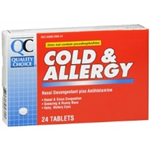 Quality Choice Allerfed Cold and Allergy 24 Tablets