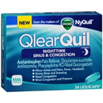Qlear Quil Nightime Sinus and Congestion 24 Liquicaps