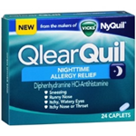 Qlear Quil Nightime Allergy Relief 24 Caplets