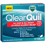 Qlear Quil All Day and All Night Allergy Relief 10 Tablets