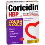 Coricidin Cough and Cold HBP 16 Tablets