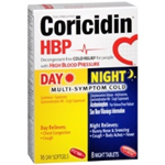 Coricidin Day and Night Multi-Symptom Cold HBP 16 Day and 8 Night Tablets