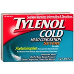 Tylenol Cold Head Congestion Severe 24 Caplets