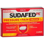 Sudafed PE Pressure and Pain and Mucus 24 Caplets