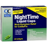 Quality Choice Nighttime Multi-Symptom Relief for Cold/Flu 24 Softgels