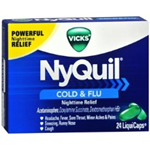 Vicks NyQuil Cold and Flu 24 LiquiCaps