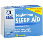 QC NIGHTTIME SLEEP AID 32 TABLETS