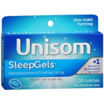 UNISOM SLEEPGELS 16 SOFTGELS