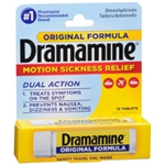 DRAMAMINE  12TABLETS