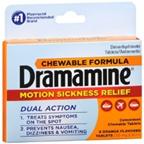 Dramamine Chewable Formula 8 Orange Flavored Tablets