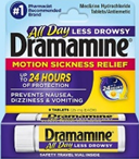 Dramamine All Day Less Drowsy 8 Tablets