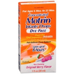 Motrin Concentrated Infants' Drops for Ages 6-23 Dye- Free Months Berry Flavor 1 fl oz