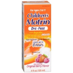Children's Motrin for Ages 2 -11 Dye-Free Berry Flavor 4 fl oz
