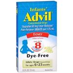 Infants' Advil Concentrated Drops Dye-Free White Grape Flavor 0.5 fl oz