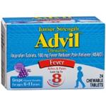 Junior Strength Advil Grape Flavor 24 Chewable Tablets