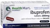 Health Mart Pharmacy Ibuprofen Gluten Free 100 Coated Tablets