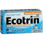 Ecotrin 81mg Pain Reliever 150 Tablets