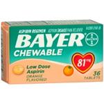 Bayer Chewable 81mg 36 Tablets