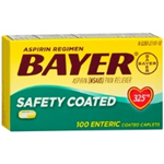 Bayer Aspirin 325mg Safety Coated 100 Tablets