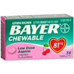 Bayer Chewable (Cherry) 81mg 36 Tablets