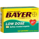 Bayer Low Dose (81mg) Safety Coated 120 Tablets