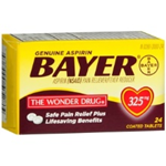 Bayer Aspirin 325mg Safety Coated 24 Tablets