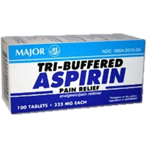 Tri-Buffered Aspirin 325mg 100 Tablets