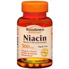 Sundown Naturals Niacin 500 mg 50 Capsules
