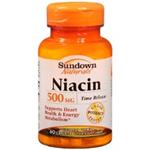 Sundown Naturals Niacin 500 mg 60 Caplets