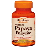 Sundown Naturals Papaya Enzyme 100 Tablets