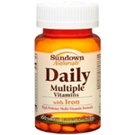 Sundown Naturals Daily Multiple Vitamins with Iron 100 Tablets