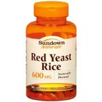 Sundown Naturals Red Yeast Rice 600 mg 60 Capsules