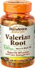 Sundown Naturals Valerian Root 530 mg 100 Capsules