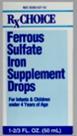 Rx Choice Ferrous Sulfate Iron Supplement Drops 3 fl oz