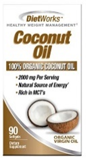 Diet Works Coconut Oil 90 Softgels