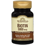 WINDMILL BIOTIN 5000 MCG 60 TABLETS