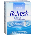 Refresh Classic Lubricant Eye Drops 30 Single-Use Containers 0.01 fl oz