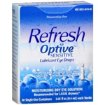 Refresh Optive Eye Drops 30 Single-Use Containers 0.01 fl oz