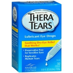 Thera Tears Lubricant Eye Drops 32 Single-Use Containers 0.65 fl oz